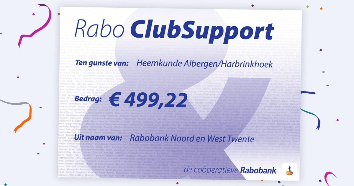 Rabobank Club Support Check